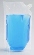 Doy Pack con válvula lateral transparente genérica